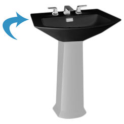 Click here to see Toto LT960.8#51 Toto LT960.8#51 Ebony Soiree Pedestal Lavatory, Sink Only 8