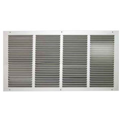 Click here to see Shoemaker 1050-12X4 12x4 Soft White Return Air Grille (Stamped from Cold Roll Steel) - Shoemaker 1050