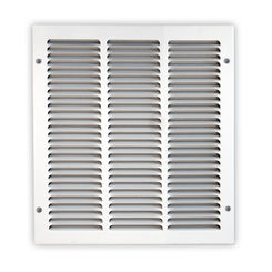 Click here to see Shoemaker 1050-30X8 30x8 Soft White Return Air Grille (Stamped from Cold Roll Steel) - Shoemaker 1050