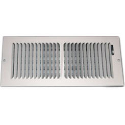 Click here to see Shoemaker 850-16X8 16X8 White 2-Way Stamped Vent Cover - Shoemaker 850 Series
