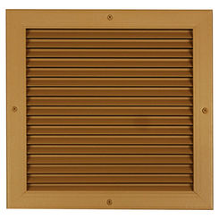 Click here to see Shoemaker 4000-8X6 8X6 Driftwood Tan Single Frame Aluminum Transfer Door Grille (Aluminum) - Shoemaker 4000
