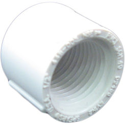 Click here to see Commodity  PVCCAP12T Schedule 40 PVC Threaded Cap, 1/2 Inch