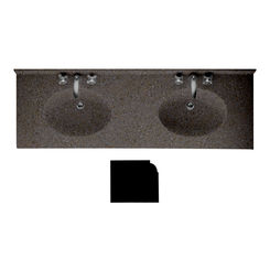 Click here to see Swanstone CH2B2273BD.124 Swanstone CH2B2273BD-124 Chesapeake Bead Edge Canyon Vanity Top