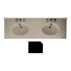 Click here to see Swanstone CH2B2273BL.060 Swanstone CH2B2273BL-061 Chesapeake Beveled Edge Winter Wheat Vanity Top