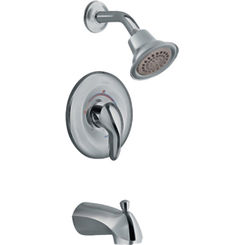 Click here to see Moen TL2303ST Moen TL2303ST Villeta Satine Single Handle Posi-Temp Tub & Shower Trim