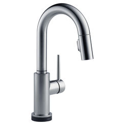 Click here to see Delta 9959T-AR-DST Delta 9959T-AR-DST Arctic Stainless Trinsic One Handle Pulldown Bar Faucet
