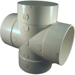 Click here to see Commodity  4 Inch PVC Sewer & Drain Tee Cross Fitting