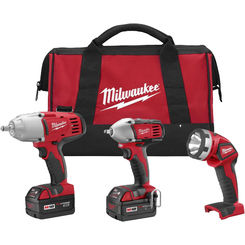 Click here to see Milwaukee 2696-23 Milwaukee 2696-23 model 3-Tool Cordless Combo Kit