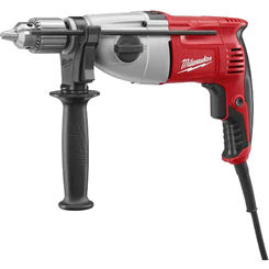 Click here to see Milwaukee 5378-20 Milwaukee 5378-20 Corded Hammer Drill, 120 V, 7.5 A, 1/2 in Keyed Chuck, 0 - 1350/0 - 2500 rpm