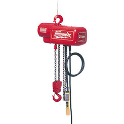 Click here to see Milwaukee 9568 Milwaukee 9568 Model 1-Ton Electric Chain Hoist