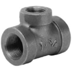 Click here to see Commodity  2 x 1 1/2 x 3/4 Black Malleable Iron Tee
