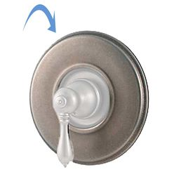 Click here to see Pfister 960-038E Pfister 960-038E Replacement Shower Handle Wall Flange, Rustic Pewter