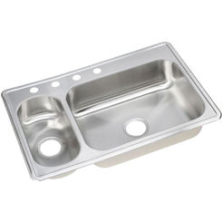 Click here to see Elkay DEMR233224 Elkay DEMR233224 Dayton 30/70 Double Bowl Top Mount Stainless Steel Sink