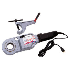 Click here to see Reed 601PDKIT1 Reed 601PDKIT1 Hand Held Power Drive Pipe Thread Machine W/Vise & 3 Heads 1/2-1