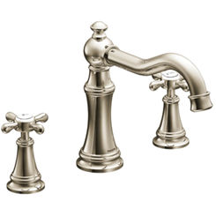 Click here to see Moen TS22101NL Moen TS22101NL Weymouth Two-Handle High Arc Roman Tub Faucet - Polished Nickel