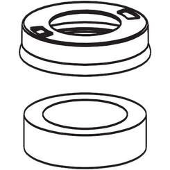 Click here to see Moen 100151 Moen 100151 Colonnade Single Mount Escutcheon & Gasket Kit - Chrome