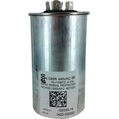 Click here to see Lennox 89M83 LENNOX 89M83 100335-15 CAPACITOR 45+10 @ 44