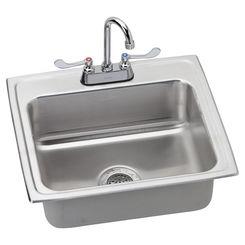 Click here to see Elkay LR2219C Elkay LR2219C Gourmet Stainless Steel Single Bowl Sink Package