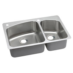 Click here to see Elkay DPXSR2250R2L Elkay DPXSR2250R2L Dayton Stainless Steel Double Bowl Sink