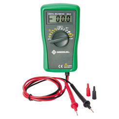 Click here to see Greenlee DM-25 Greenlee DM-25 Digital Multimeter, 600 VAC/DC 1.5 V/9 V Battery
