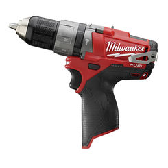 Click here to see Milwaukee 2404-20 Milwaukee M12 Cordless Hammer Drill/Driver, 12 V, Lithium-Ion, 1/2 in Keyless Chuck