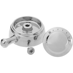 Click here to see Delta RP72571 Delta RP72571 Cassidy Temperature Knob, Cover, and Set Screw - Chrome