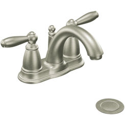 Click here to see Moen 6610BN Moen 6610BN Two Handle Low Arc Bathroom Faucet