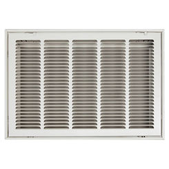 Click here to see Shoemaker FG1-30X20 30x20 Soft White Stamped Face 1-inch Filter Grille (Steel) - Shoemaker FG1