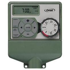 Click here to see Orbit 57876 Easy Dial 57876 Dual Water Timer, 6 Zone, 99 min