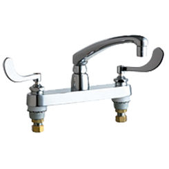 Click here to see Chicago Faucet 1100-E35-317ABCP Chicago Faucets 1100-E35-317ABCP Hot and Cold Sink Faucet