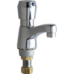 Click here to see Chicago Faucet 333-665PSHABCP Chicago Faucets 333-665PSHABCP Single Supply Metering Sink Faucet