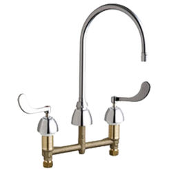 Click here to see Chicago Faucet 201-G8AE2805F317AB Chicago Faucets 201-G8AE2805F317AB Concealed Hot and Cold Sink Faucet