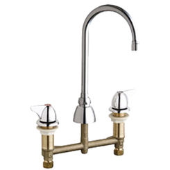 Click here to see Chicago Faucet 201-VGN2AE3-1000AB Chicago Faucets 201-VGN2AE3-1000AB Concealed Hot and Cold Sink Faucet
