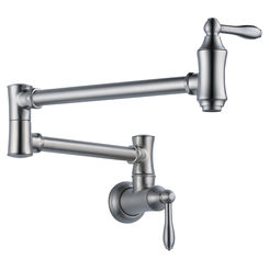 Click here to see Delta 1177LF-AR Delta 1177LF-AR Traditional Pot Filler Faucet, Arctic Stainless