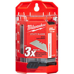 Click here to see Milwaukee 48-22-1900 Milwaukee 48-22-1900 100 PC General Purpose Utility Blades w/ Dispenser