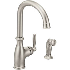 Click here to see Moen 7735SRS Moen 7735SRS Brantford Spot Resist Stainless One-Handle High Arc Kitchen Faucet