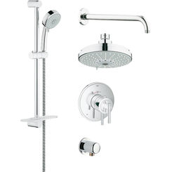 Click here to see Grohe 35056000 Grohe 35056000 Grohflex Shower Set w/ Thermostatic Valve, Chrome