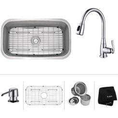 Click here to see Kraus KBU14-KPF2230-KSD30CH Kraus KBU14-KPF2230-KSD30CH Kitchen Sink And Faucet Combo