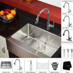 Click here to see Kraus KHF200-30-KPF2230-KSD30CH Kraus KHF200-30-KPF2230-KSD30CH Kitchen Sink And Faucet Combo