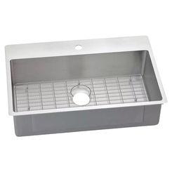 Click here to see Elkay ECTSRS33229BG1 Elkay ECTSRS33229BG1 Crosstown Stainless Steel Single Bowl Dual Mount Sink Kit