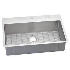 Click here to see Elkay ECTSRS33229BGFR2 Elkay ECTSRS33229BGFR2 Polished Satin Single Bowl Dual Mount Sink Kit