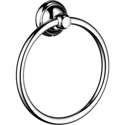 Click here to see Hansgrohe 06095000 Hansgrohe 06095000 C Accessories Towel Ring, Chrome