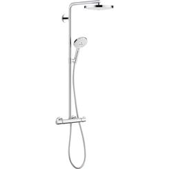 Click here to see Hansgrohe 27129401 Hansgrohe 27129401 Raindance Select S 240 2-Jet Showerpipe, White/Chrome