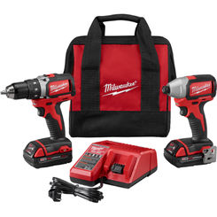 Click here to see Milwaukee 2798-22CT Milwaukee 2798-22CT M18 Compact Brushless Drill/Impact Combo Kit (2 Tool)