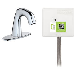 Click here to see Chicago Faucet EQ-A12A-52ABCP Chicago Faucets EQ-A12A-52ABCP EQ Chrome EQ Curved Series Lavatory Sink Faucet with Hands-free Infrared Detection