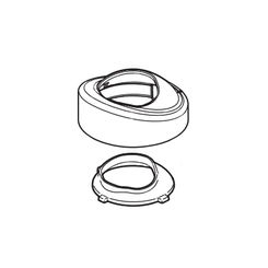 Click here to see Delta RP78711 Delta RP78711 Tesla Bathroom Faucet Bonnet Cap Assembly, Chrome