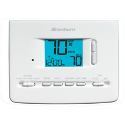 Click here to see Braeburn 2220NC BRAEBURN 2220NC 24VA TWO STAGE 7, 5-2 OR NON-PROGRAMMABLE 2 HEAT 1 COOL/HP