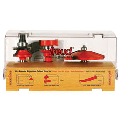 Click here to see Diablo 97-150 Quadra-Cut 97-150 Router Bit Set, 3 Pieces, 8.75 X 4.88 X 4 in