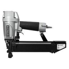 Click here to see Hitachi N5024A2 Hitachi N5024A2 Lightweight Pneumatic Stapler, 1 in, 16 ga, 157 Staple