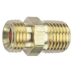 Click here to see Tru-Flate 21-595 Tru-Flate 21-595 Hose Adapter with Ball Socket, 1/4 in, MNPT X MNPS, Brass
